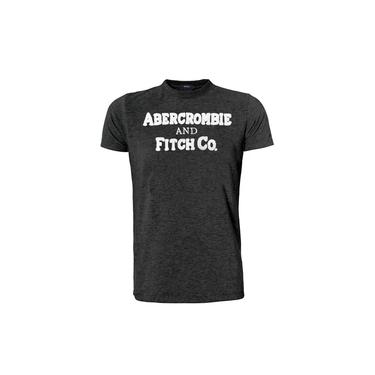 Camiseta Abercrombie & Fitch Masculina Muscle Fitch Co. Chumbo