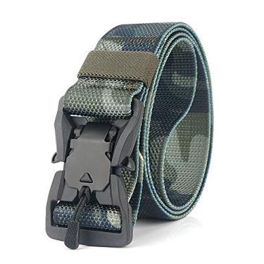 Cinto masculino de nylon camuflado ajustável com fivela magnética à prova de desgaste da Funien