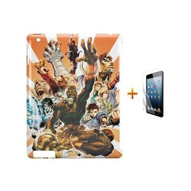 Kit Capa Case TPU iPad 2/3/4 Street Fighter + Película de Vidro (BD01)