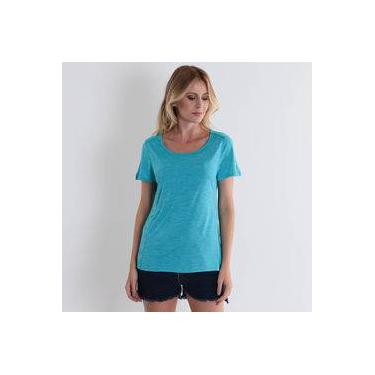 Camiseta Feminina Facinelli - Turquesa 3957338c0440b