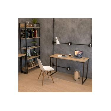Escrivaninha 120cm Porto Espresso Móveis Natura/Preto