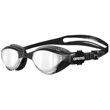 Arena Oculos Cobra Tri Mirror Lente Espelhada Prata, Preto/ Cinza