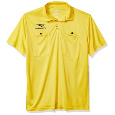 Camiseta Arbrito, Penalty, Masculino, Amarelo Fluor, Médio