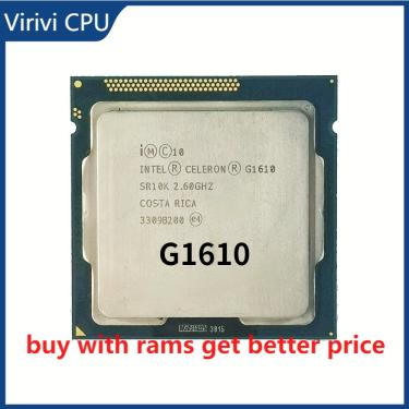Imagem de Intel celeron processador, processador g1610 2m de cache 2.6ghz dual-core cpu lga 1155 100%,
