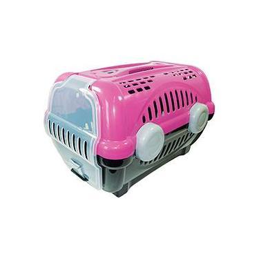 Caixa de Transporte Luxo Furação Pet N3 Rosa