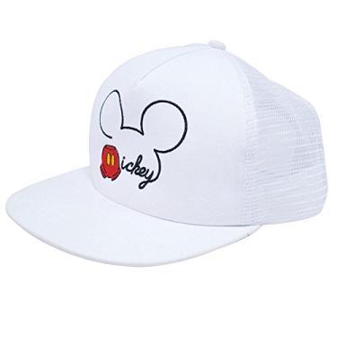Boné Branco Mickey Aba Reta - Disney 835f938385d