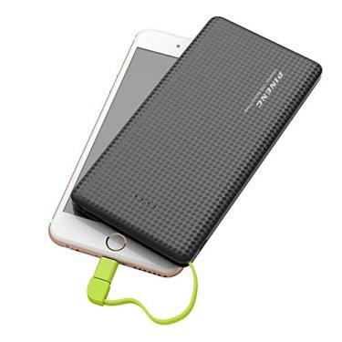 Carregador Portátil 10.000 MAh Original Pineng Power Bank Slim compatível com Smartphone Motorola