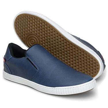 Imagem de Sapatênis Tênis Masculino 13005 Sapato sem Cadarço (38, Azul)