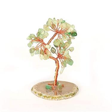 Árvore de Cristal, Árvore de Cristal, Fluorspar, Árvore de Cascalho, Sete Chacras Pedra preciosa de Cura Natural Cristal Bonsai fortuna Árvore Dinheiro Fio de Cobre Enrolamento Pedra preciosa Árvore Árvore Árvore (Cor: B)/Produto C