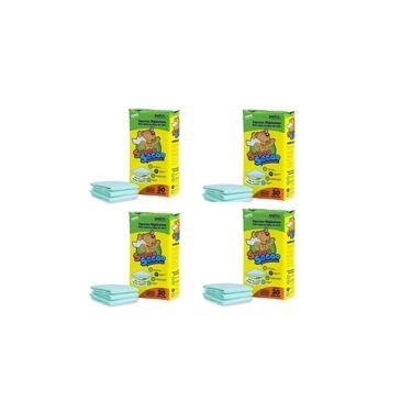 Kit 4 Pacotes Tapete Higiênico Super Secão Total 120 Un