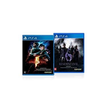 Jogo Game Combo Resident Evil 5 e 6 - Ps4