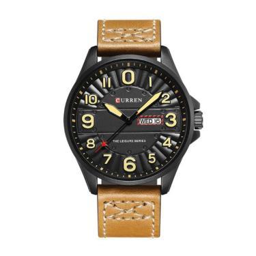 c1111d150bd Relógio Masculino Curren Analógico 8269 Preto e Bege masculino