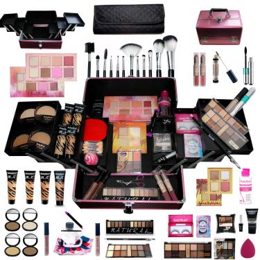 Imagem de Maleta de maquiagem com 4 bases ruby rose