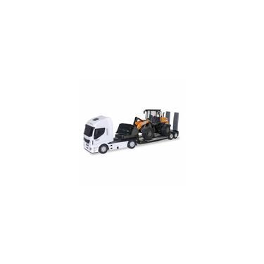 Imagem de Caminhão Iveco Hi-Way com Trator Carregadeira Case 721E - Usual