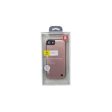 Capa Carregadora Iphone 7/8 4,7 Pol 2500mah Baseus Bateria Extra Fina Slim Backpack Baseus Rose Gold