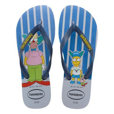 Sandálias Havaianas  Simpsons Cinza  masculino
