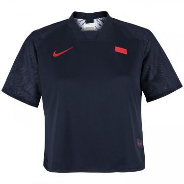 Blusa Cropped França Nike Dupla Face - Feminina Nike Feminino
