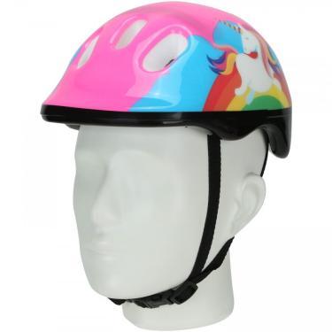 Kit Proteção para Bike Spin Unicórnio com 1 Par: Joelheiras + Cotoveleiras + 1 Capacete - Infantil Spin Roller Unissex