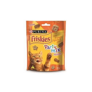 Friskies Party Mix para Gatos Adultos Frango, Fígado e Peru - 40 g