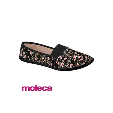 Moleca Sapatilha 520.59 Tecido Floral