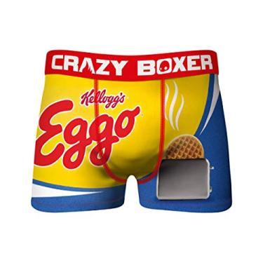 Imagem de Cueca boxer Kellogg's Eggos da Crazy Boxers, Amarelo, 32-34