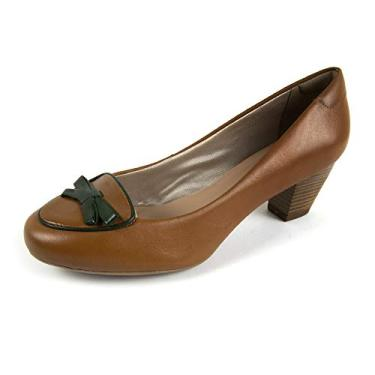 Sapato Scarpin Salto Grosso Linha Social Elegance Miuzzi - 3503 - Whisky