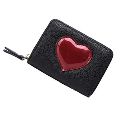 SOIMISS RFID Cartão de Carteiras de Crédito Carteira Titular Fazer Cartão de Zíper Cartão de Casos Com Parágrafo Coração de Viagem Como Mulheres De Menina