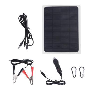 TOPBATHY Kit Painel Solar Portátil Carregador de Bateria Solar Controlador de Carga Solar para RV Marine Boat Off de Grade