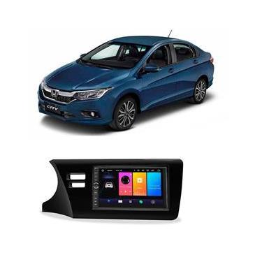 Central Multimídia Honda City 2015 a 2021 7 Polegadas Sistema Android Play Store BT USB