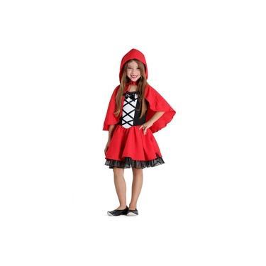 Imagem de Fantasia Chapeuzinho Vermelho Infantil - Luxo