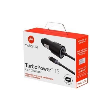 Carregador Veicular Turbopower Original Motorola Usb Moto Z Z2 Z3 Play G6 G7 Plus One Garantia 1 Ano