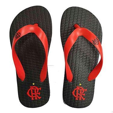 Chinelo Flamengo Infantil Basic Preto/Vermelho 2019 25/26