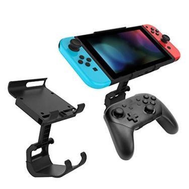 Honeytecs Controlador de jogo Mount-Clip Holder Compatível com Nintendo Switch Pro Controller Gamepad Bracket para NS Switch Console Acessório