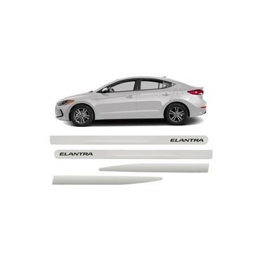 Jogo Friso Lateral Hyundai Elantra Branco Creme