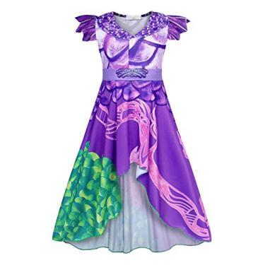 Kantenia Vestido de menina Descendentes populares Vestidos Cosplay Aniversário Partido Princess Dress Up Outfits