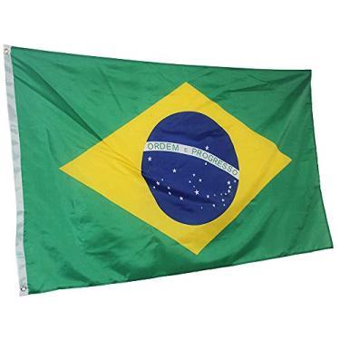 Bandeira do Brasil 145cm x 90cm da Marca Minha Bandeira - Dupla Face