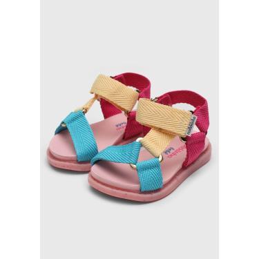 Imagem de Sandália Molekinha Infantil Tricolor Rosa/Amarelo Molekinha 2714.100.375-81331 menina
