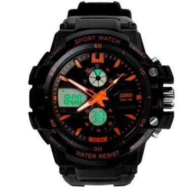 ed6cfbafd59 Relógio Skmei Anadigi 0990 PLaranja masculino