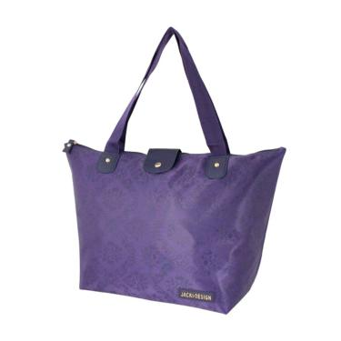 Bolsa Dobrável Tam. G Damasco Jacki Design Essencial II Roxo  feminino