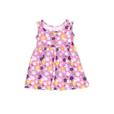 Vestido Infantil Floral Rosa Avenida