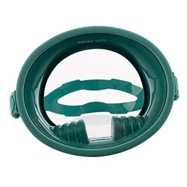 Imagem de Almencla Adulto Mergulho Máscara Facial Completa Anti-nevoeiro óculos de Mergulho - Verde