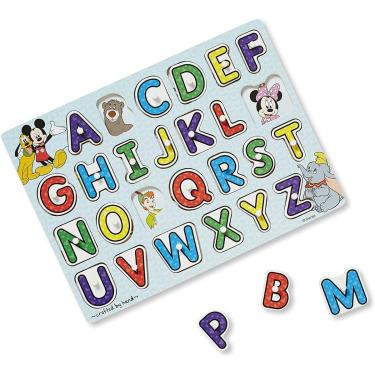 Imagem de Melissa & Doug Disney Classics Alphabet Wooden Peg Puzzle (26 Pcs)
