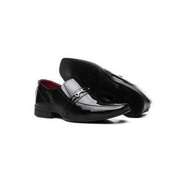 7b1341f365 Sapatos Social Vr Masculino Verniz Brilho Preto
