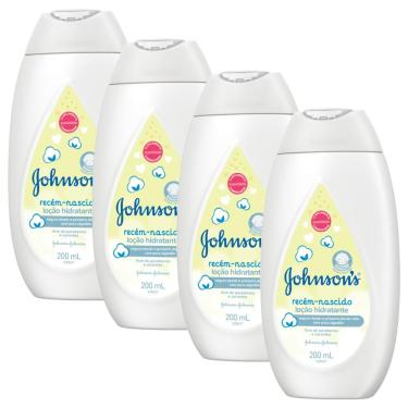 Kit 4 Hidratantes Corporal Recém-Nascido Johnson's Baby 200ml