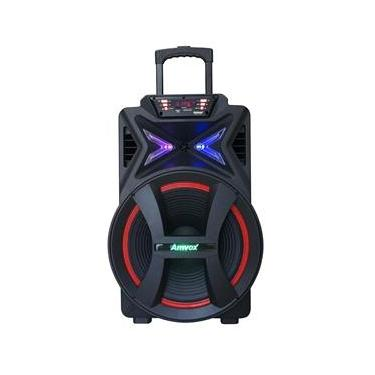 Caixa de Som Amplificadora Amvox ACA-501 New, Bluetooth, USB, Auxiliar, 500W RMS - Bivolt