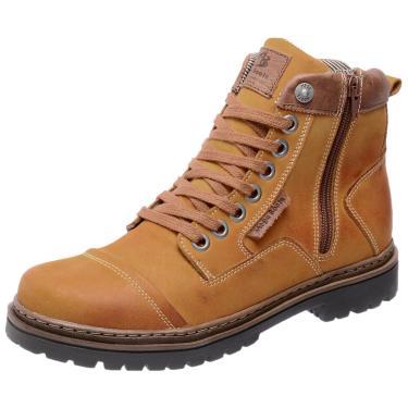 Bota Coturno em Couro Mega Boots 6017 Amarelo  masculino