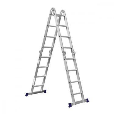 Escada Dobrável em Alumínio 16 Degraus MOR 5134