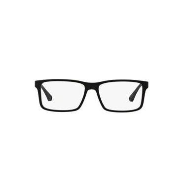 e0ec11f202695 Óculos de Grau Emporio Armani EA3038 5063 Preto Lentes Tam 56