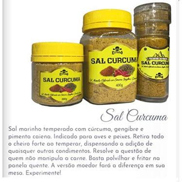 Tempero Mix de Sal Marinho/Cúrcuma/Gengibre e Pimenta Caiena moedor 100 gramas
