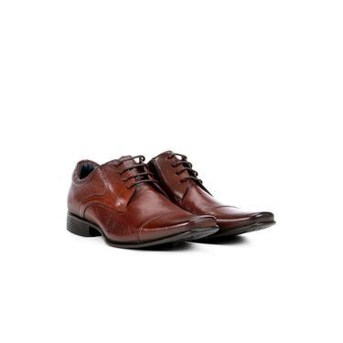Sapato Social Couro Rafarillo Office Perfuros Masculino - Marrom Escuro